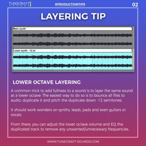 Production Tip 2: Layering Tip